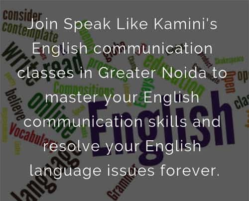 English Communication Classes in Greater Noida